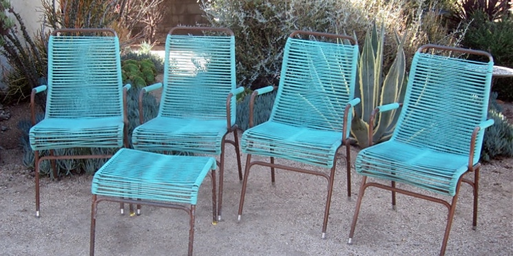 Ames Aire Mid-Century Patio Chairs